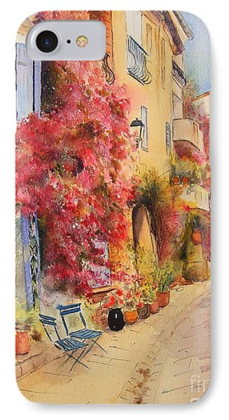 IPhone Case featuring the painting Grimauld Village by Beatrice Cloake