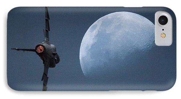 IPhone Case featuring the photograph Gripen Moon by Paul Job
