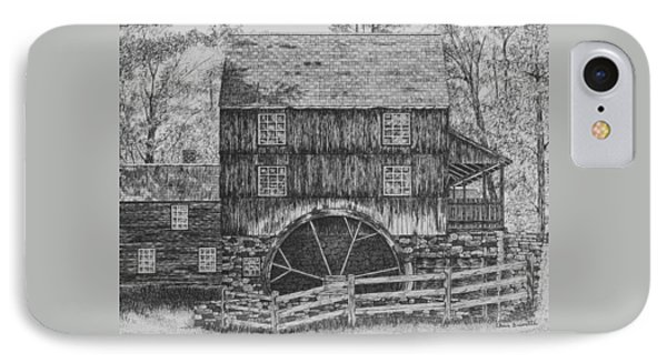 Grist Mill IPhone Case by Christine Brunette