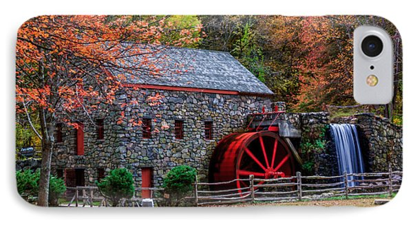 Grist Mill In Autumn IPhone Case