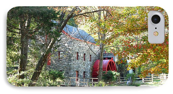 Grist Mill In Fall IPhone Case by Barbara McDevitt
