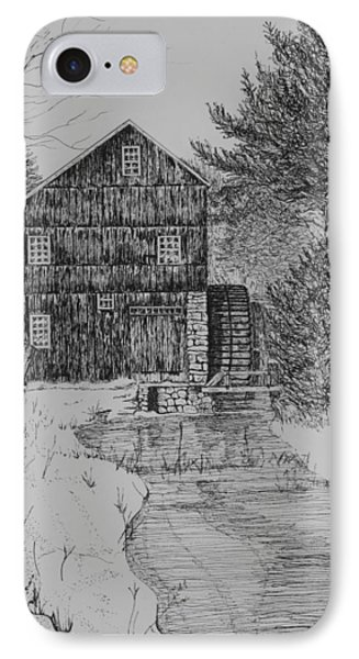 Grist Mill In Winter IPhone Case by Christine Brunette