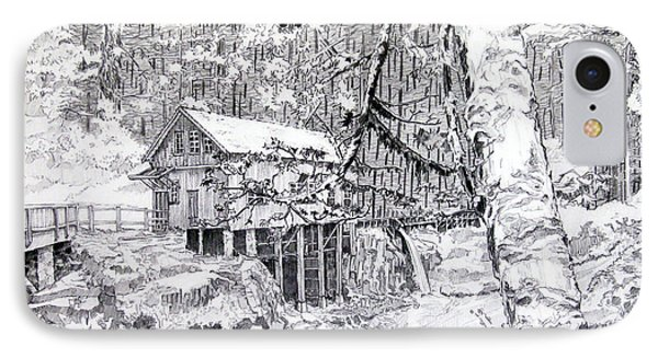 Grist Mill On A Winter Night Landscape IPhone Case by Gary Beattie