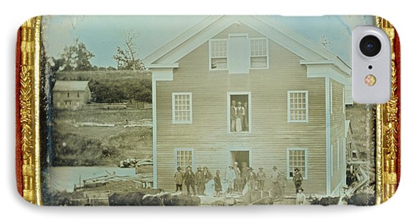 Grist Mill Unknown Maker, American About 1845 Daguerreotype IPhone Case by Litz Collection
