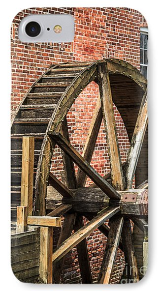 Grist Mill Water Wheel In Hobart Indiana IPhone Case by Paul Velgos