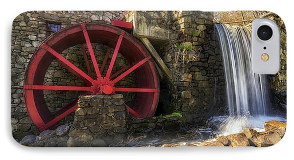 Grist Mill Waterfall IPhone Case by Mark Papke