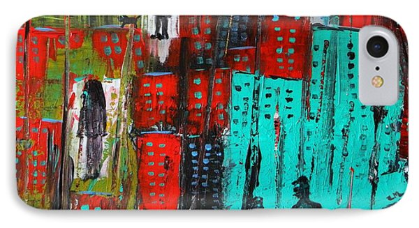 IPhone Case featuring the painting Gritty City by Everette McMahan jr