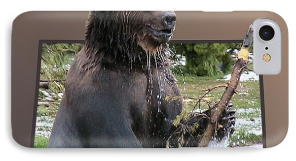 Grizzly Bear 6 Out Of Bounds Phone Case by Thomas Woolworth