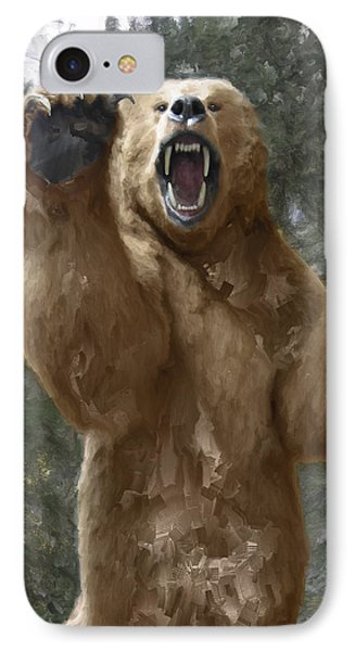 Grizzly Bear Attack On The Trail IPhone Case