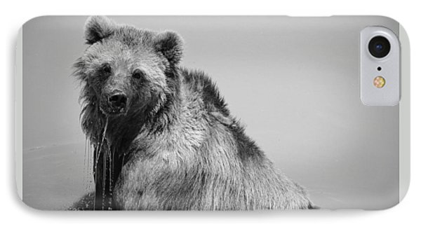 Grizzly Bear Bath Time IPhone 7 Case by Karen Shackles