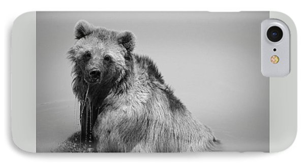 IPhone 7 Case featuring the photograph Grizzly Bear Bath Time by Karen Shackles
