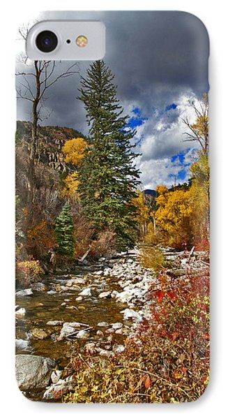 IPhone Case featuring the photograph Grizzly Creek Vertical by Jeremy Rhoades