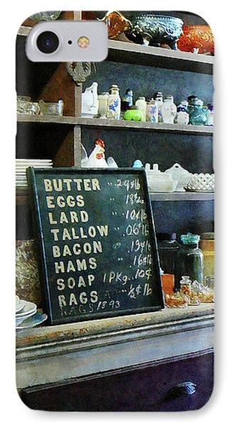 Groceries In General Store Phone Case by Susan Savad