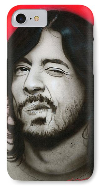 Dave Grohl - ' Grohl IIi ' IPhone Case by Christian Chapman Art