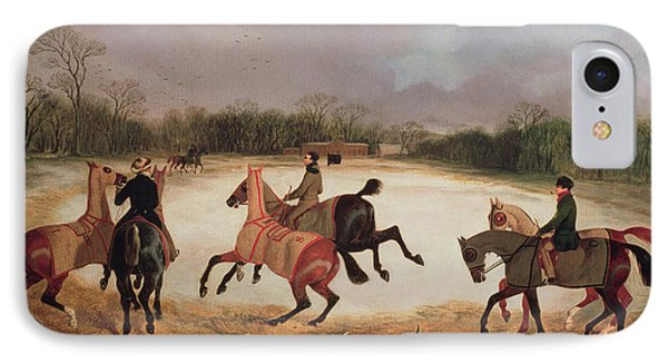 Grooms Exercising Racehorses  Phone Case by David of York Dalby
