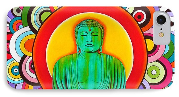 IPhone Case featuring the painting Groovy Buddha by Joseph Sonday