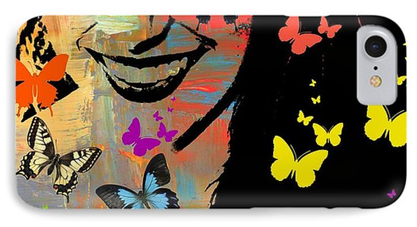Groovy Butterfly Gal IPhone Case by Kathy Barney