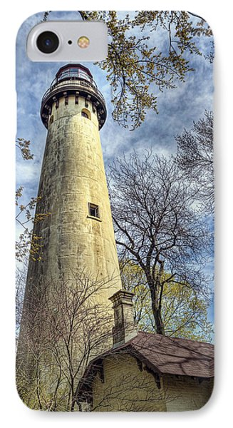 Grosse Point Lighthouse Color IPhone Case by Scott Norris