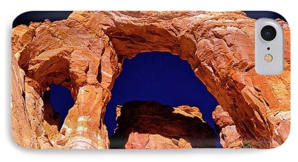 Grosvenor Arch Sunset Kodachrome Basin IPhone Case by Ed  Riche