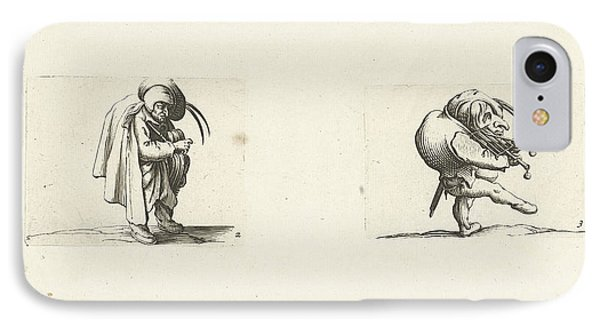 Grotesque Figure With Hurdy-gurdy Dwarf With Grill And Sword IPhone Case by Jacques Callot And Abraham Bosse