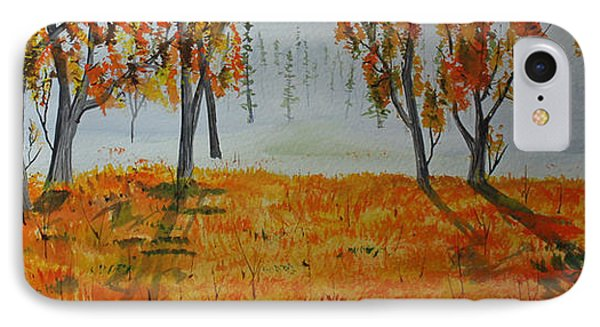 IPhone Case featuring the painting Ground Fog by Jack G  Brauer
