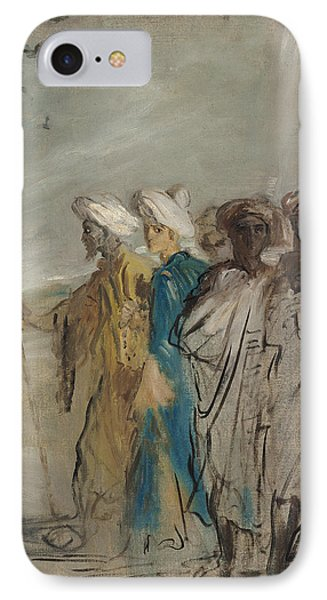 Group Of Arabs Or, Joseph Sold By His Brothers Oil On Canvas IPhone Case