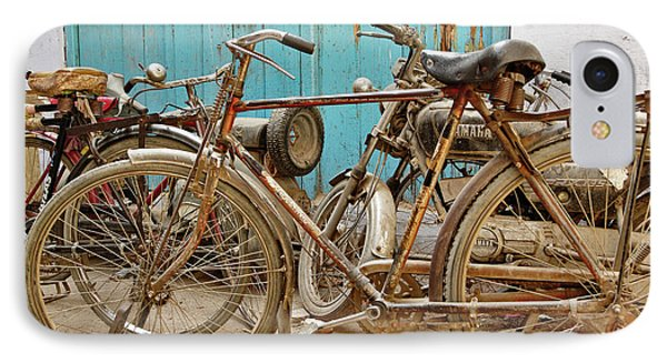 Group Of Bicycles In Gulley (alley IPhone Case by Adam Jones