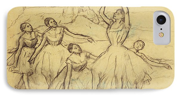 Group Of Dancers IPhone Case by Edgar Degas