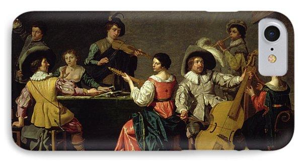 Group Of Musicians IPhone Case by Jan van Bijlert or Bylert