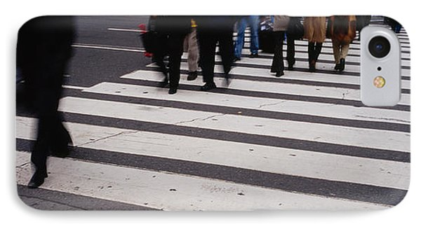 Group Of People Crossing At A Zebra IPhone Case