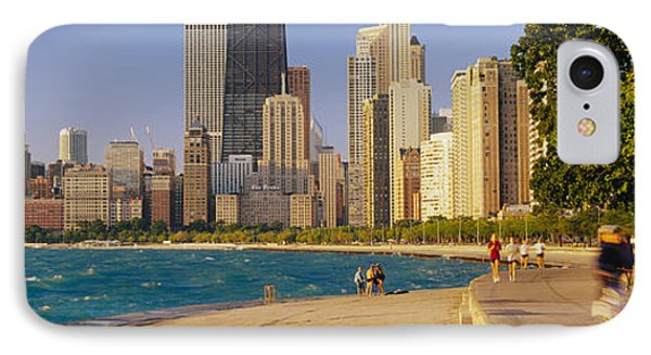 Group Of People Jogging, Chicago IPhone Case