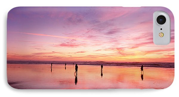 Group Of People Watching The Sunset IPhone Case by Panoramic Images
