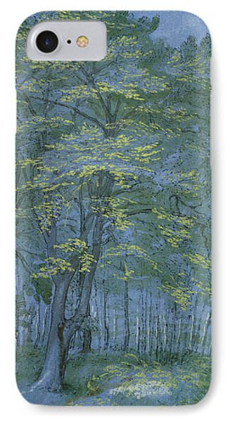 Group Of Trees In A Wood IPhone Case by Hendrik Goltzius