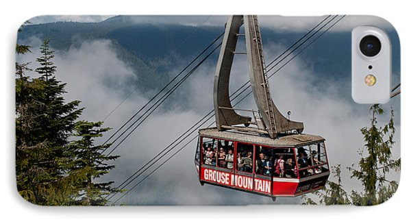 Grouse Mountain Skyride IPhone Case by James Wheeler