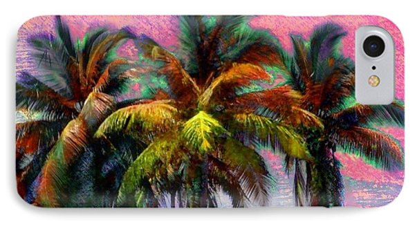Grove Of Coconut Trees - Square IPhone Case