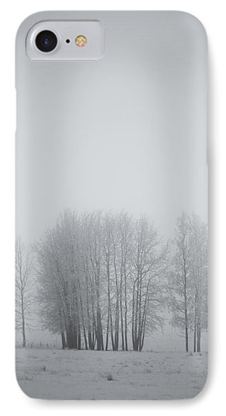 Grove Of Trees Covered In Hoar Frost On Phone Case by Roberta Murray
