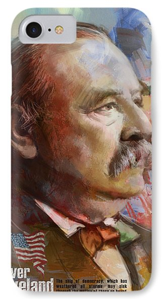 Grover Cleveland Phone Case by Corporate Art Task Force