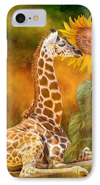 Growing Tall - Giraffe IPhone Case by Carol Cavalaris