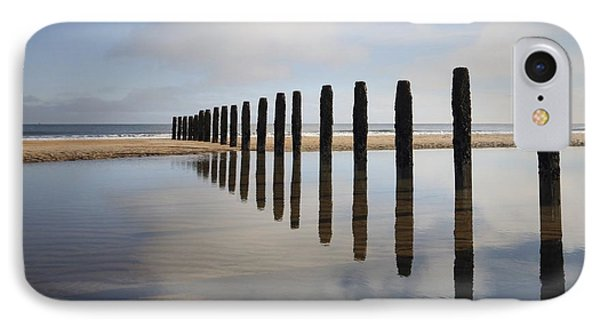 Groynes Blyth Northumberland Phone Case by Christine Giles