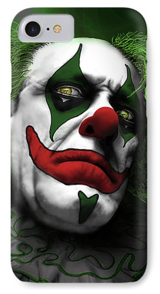 IPhone Case featuring the digital art Grumpy Green Meanie by Jeremy Martinson