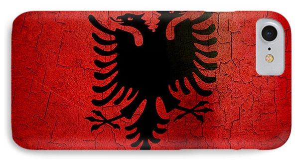 Grunge Albania Flag IPhone Case