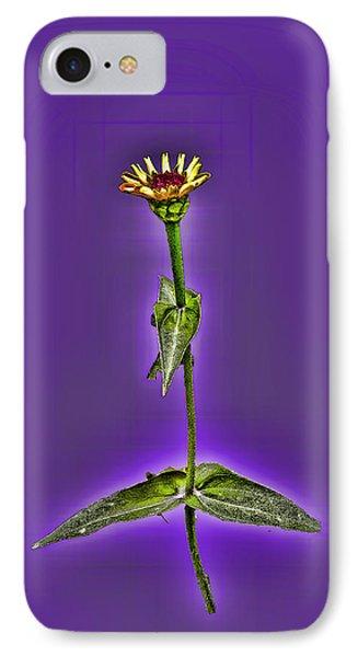 Grunge Flower - Zinnia Phone Case by Larry Bishop
