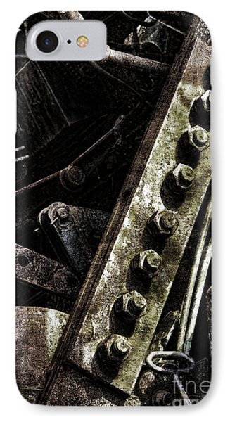Grunge Industrial Machinery Phone Case by Olivier Le Queinec