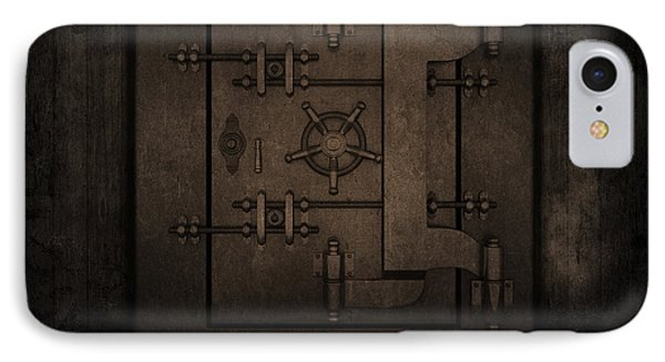 Grunge Interior With Bank Vault Phone Case by Kirsty Pargeter