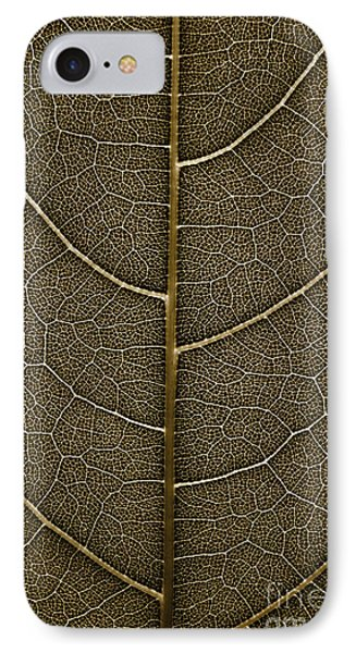 Grunge Leaf Detail IPhone Case