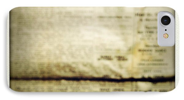 Grunge Newspaper Phone Case by Les Cunliffe