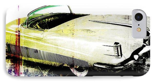 Grunge Retro Car Phone Case by David Ridley