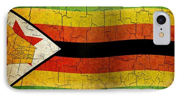 Grunge Zimbabwe Flag IPhone Case