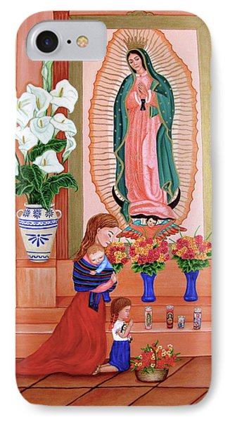IPhone Case featuring the painting Guadalupe by Evangelina Portillo