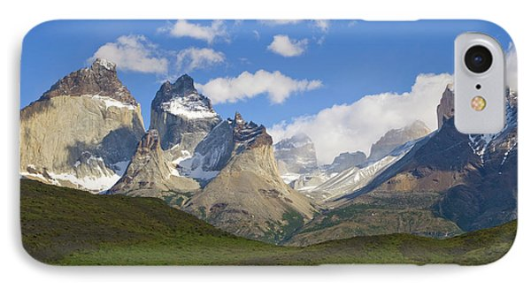 Guanaco And Cuernos Del Paine Peaks IPhone Case by Yva Momatiuk John Eastcott